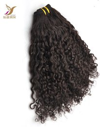 double weft human hair extensions Australia - Brazilian Kinky Curly Hair Bundles 100% Human Hair Weave 6a Unprocessed Double Weft Virgin Hair Extensions