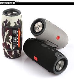 Venta al por mayor de Hot Small Battle Drum Subwoofer pesado Altavoz Bluetooth Portátil Fuente de alimentación portátil Audio Caja de alta fidelidad de doble bocina Altavoz