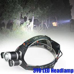 $enCountryForm.capitalKeyWord Australia - 3T6 Headlamp 6000 Lumens 3 x T6 Head Lamp High Power LED Headlamp Head Torch Lamp Flashlight Head +charger