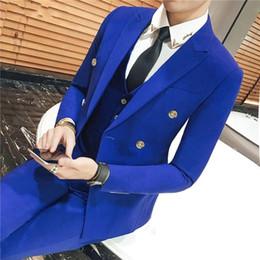 $enCountryForm.capitalKeyWord Australia - Groom Tuxedos Royal Blue Purple Light Blue Grey Khaki Ivory Black Men Wedding Tuxedos Men Jacket Blazer 3 Piece Suit(Jacket+Pants+Tie+Vest)8