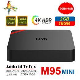 Media Player Australia - Original M95 MINI Cheapest Android 7.1 Tv Box Quad Core 1GB 8GB 2GB 16GB Android 7.1 IPTV Box Support 2.4G Wifi 4K Steaming Media Players