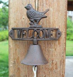 $enCountryForm.capitalKeyWord Australia - Cast Iron WELCOME Dinner Bell Bird Wall Mount Metal Decorative Door Bell Doorbell Home Garden Porch Patio Farm Yard Decoration Ornaments