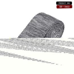 Discount mens knitted skinny ties - Slim Designer Mens Knitted Neck Ties Cravate Narrow Skinny