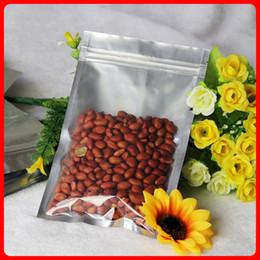 $enCountryForm.capitalKeyWord Australia - 100pcs lot 12cm*20cm*180mic High Quality Half Clear + Al Foil Self Adhesive Bag Food Packaging Bags