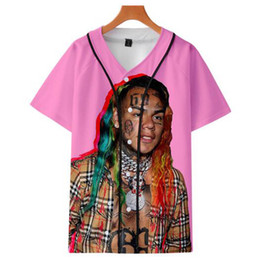 hip hop style clothing for men 2019 - 6ix9ine Bulletproof Youth Club Team Same Style Baseball Shirt For Men and Women Clothes Loose Casual Hip hop Harajuku T