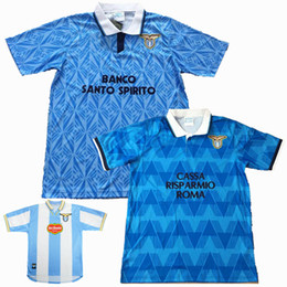 Discount 2xl soccer jerseys - Retro classic 1989 1990 1991 1992 1999 2000 lazio soccer jerseys NEDVED MANCINI SALAS Retro football shirt S-2XL