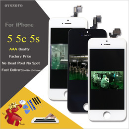 Lcd screen iphone5 online shopping - High Quality LCD Display For iPhone s Touch Screen Digitizer Assembly for iPhone5 c s Complete pantalla Replacement Part