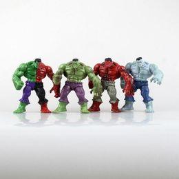 $enCountryForm.capitalKeyWord UK - 4Pcs Set 12CM The Avengers Hulk with Disassembled Compound Red Grey Green PVC Action Figure Model Toys