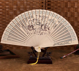 Quality Folding Fans Australia - Wholesale Chinese Traditional Hollow Fan Wooden Hand Made Exquisite Folding Wedding Gift Hot Sale High Quality