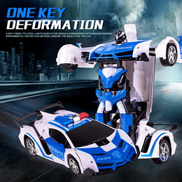 robot car kids 2019 - Remote Control Car RC robot 2 in 1 wireless RC deformation robot Models Car Driving Sports Transformation kids toy gift