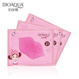 Discount lips mask patch - BIOAQUA Crystal Collagen Lip Mask Pads Moisture Essence Anti Ageing Wrinkle Patch Pad Gel Full Lips Enhancer