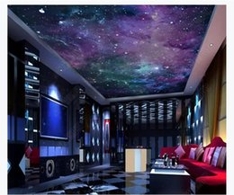 fantasy wallpaper Australia - 3D ceiling large custom photo zenith mural wallpaper 3D fantasy beautiful starry galaxy KTV living room zenith ceiling mural background wall
