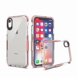 Armadura case híbrido transparente phone case à prova de choque capa para iphone xr xs max x 7 8 6 s plus samsung s9 7 fólio LG STYLO 4 OPP Aicoo venda por atacado