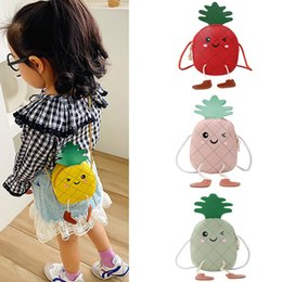 small coin purse for girls Canada - Cute Baby Fruit Bag 2020 Kawaii Pineapple Crossbody Bags for Kids Girl Small Coin Wallet Pouch Baby Girls Mini Purse Gift