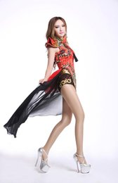 Chinese  New item bar DS costume retro vintage Chinese Style Sexy DJ elegant female singer's outfit nightclub leading dress manufacturers