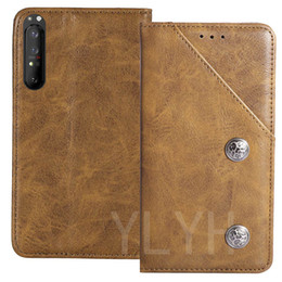 xperia case gel Canada - YLYH TPU Silicone Protective Premium Genuine Leather Rubber Gel Cover Phone Case For Sony Xperia 1 10 II L4 Pouch Shell Wallet Etui Skin