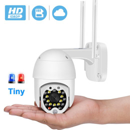 ptz ip camera sd card UK - BESDER 1080P Mini PTZ 3.6mm WiFi Camera Auto Tracking 4X Zoom 2MP Wireless IP Camera Cloud-SD Card Motion Detection Audio CCTV Camera