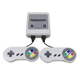 Toptan satış Mini SFC Oyun Konsolu AV Çıkışı SNES 500 Klasik Video Oyunları TV'ye ve İki Oyuncuya Bağlanabilir