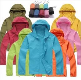 SportS jacket fur online shopping - Women Men Waterproof UV Jacket Outdoor Sports Coats Ski Hiking Fast drying hooded Winter hiking Outwear Windbreaker LJJA2893