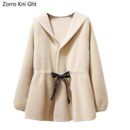 $enCountryForm.capitalKeyWord Australia - Zorro Kni Ght Nice Autumn And Winter Long Knit Cardigan Coat Coat New Imitation Velvet Lace Hooded Lantern Sleeve Sweater Code