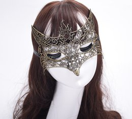 Elegant Ball Masks Australia - 2019 Sexy Lace Mask For Halloween Masquerade Ball Sexy Lady Hollow Out Elegant Animal Fox Mask Party Masque