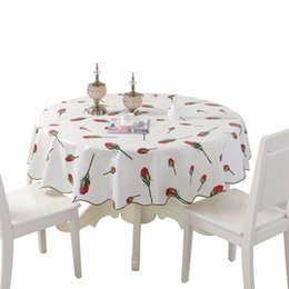 $enCountryForm.capitalKeyWord UK - Pastoral Pvc Waterproof Round Table Cloth Size 150 180cm Floral Plaid Thicken Home Decoration Tablecloth Mesa Toalha De Tapetes Q190603