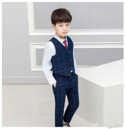 $enCountryForm.capitalKeyWord Australia - Kids Vest+Pants+Tie Boys Formal Suit Gentleman Wedding Dress Party Wear Children Graduation Tuxedo Costume Clothing Set