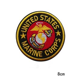 Badge Accessories Australia - United States Marine Corps Military Patch Iron on Badge DIY Accessory Sewing Supplies Stickers Apparel Accessories Patches