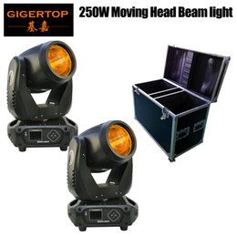 Bulb Case Australia - 2PCS Lights + 1PCS Flight Case Led 250W BUlb RGBW Beam Spot Light DMX512 Moving Head Light DJ  Bar  Party  Show  Stage Light
