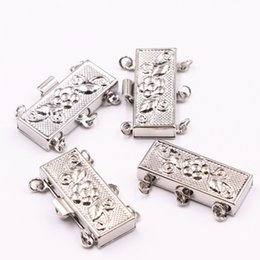 $enCountryForm.capitalKeyWord Australia - Wholesale Carved 10PCS Clasp Hooks For Jewelry Making Finding DIY Necklace Bracelet 3 Rows Metal Clasps Connectors Crafts A535