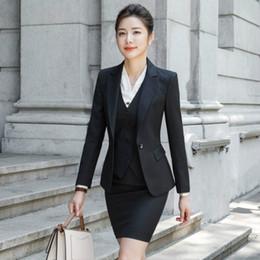 $enCountryForm.capitalKeyWord Australia - Women Suit Office Lady Work Uniform Business Formal Pant Suits Black Blazer Pants Set Casual Jacket Trousers Plus Size Clothing