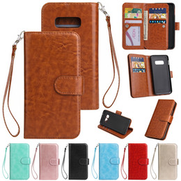 samsung note 10 plus flip case Canada - Multifunction Flip PU Leather Wallet 9 Card Slots Stand Strap Case For iPhone 11 Pro Max XR XS X 6 7 8 Samsung S9 S10 Plus S10e Note 10 10+