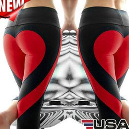 c2f41e7fa7f59 Plus Size Patterned Leggings NZ - Wholesale Heart Pattern Sexy Splice Black Leggings  Plus Size Fashion