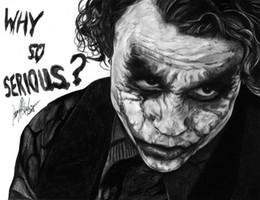 Batman Art Joker Australia - Batman The Joker - Why So Serious wall decor Art Silk Print Poster 9749