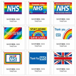 Wholesale england uk for sale - Group buy Thank You NHS Hand Flag CM Rainbow Flag UK Banner Thank You Key Workers Flags Banners for England Scotland Wales LJJA4063
