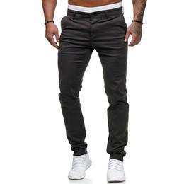 $enCountryForm.capitalKeyWord Australia - New Design Casual Men Pants Cotton Slim Pant Straight Trousers Fashion Business Solid Dark Gray Black Joggers Men Pantalon Homme MX190717
