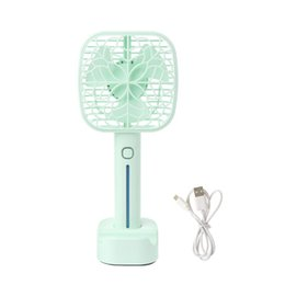 cool desk lights Australia - Handheld Mini Fan USB Portable Air Conditioner For Home Rechargeable Air Cooler Electric Mini USB Desk Fan With Led Light Q81E