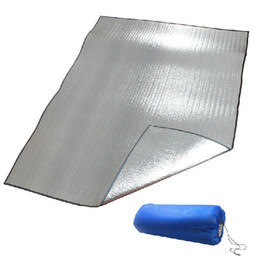 $enCountryForm.capitalKeyWord Australia - More than outdoor aluminium film dampproof mat, 2 * 2 m double-sided picnic mat outside the tent dampproof mat packaged