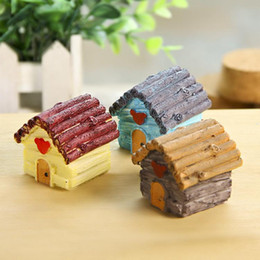 old resin Australia - Warm Series Love Sea Mini Dollhouse Resin Action Figure Collectible DIY Garden Decoration Cute Kits Gift Toys