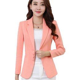 Discount ladies plus short blazers - High quality Small Suit Autumn Spring Women Blazer Elegant Fashion Lady Blazers Coat Suits Female Short Jacket Plus size