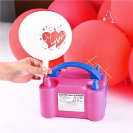 $enCountryForm.capitalKeyWord Canada - High Voltage Double Hole AC Inflatable Electric Balloon Pump Air Balloon Pump Electric Balloon Inflator Pump Portable Air Blower
