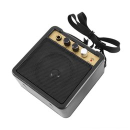 amplifiers for electric guitar UK - Mini Other Game Accessories Amplifier Amp With Back Clip Speaker Guitar Accessories For Acoustic Electric Guitar EWAVE hot 2019