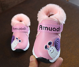 Girls Pre Walker Shoes Australia - Autumn And Winter Baby Boy And Girl Cotton Shoes Warm Shoes Children Pre-walkers Fashion Footwear Kids Cotton Shoes Red+Black+Pink 3Pair