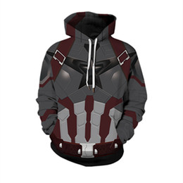$enCountryForm.capitalKeyWord UK - Women Pullover Hooded Sweatshirts Unisex 3D Digital Red Armor Printed Hoodies Big Pocket Spring Autumn fashion long sleeve Couple outerwear