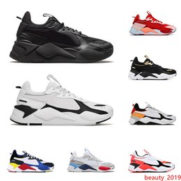 toys black Canada - 2020 RS-X Reinvention Toys men women casual shoes triple black BRIGHT PEACH Tracks mens breathable trainers platform sneakers size 36-45