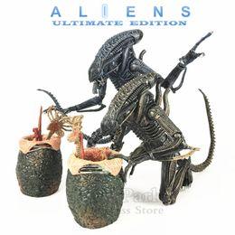 "Aliens Action Figures Australia - Kos Neca Aliens 7"" Scale Movie 1986 Ultimate Alien Warrior Classic Action Figure Facehugger Chestburster Egg Xenomorph Doll Toys Y190604"