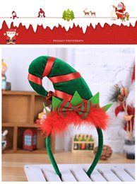 $enCountryForm.capitalKeyWord Australia - Christmas gift Creative hot style red feather decoration Elf small pointed cap Headband hair band Manufacturers wholesale