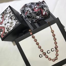 Elegant Diamond Chokers NZ - Italy Gold Pink Diamond Beaded Necklace Elegant Women's Choker Chain Necklace Women's Necklaces Chokers No Box