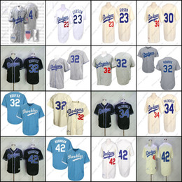 Wholesale Cream Throwback Fernando Valenzuela Kirk Gibson Jackie Robinson 32 Sandy Koufax Jersey , Men's Mitchell And Ness Los Angeles