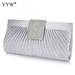 Silver Satin Clutch Bags Australia - Brand Fashion Female Clutches Bag Silver Satin Women Handbags Black Evening Party Bag Apricot Hasp Shoulder Bags 2017 Small #316466
